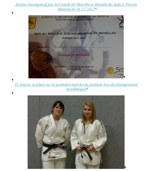 Nos judokates bien prometteuses ! Bravo les filles !!!!!