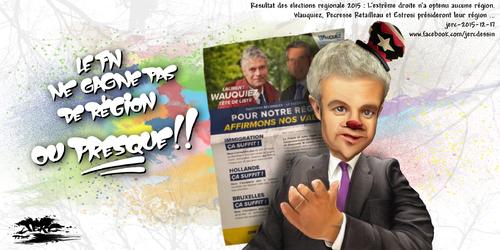 JERC 2015-12-17, Petite consolation pour le FN : ses idées seront représentées par Estrosi et Wauquiez.www.facebook.com/jercdessin Cliquer sur la photo pour voir en plus grand.