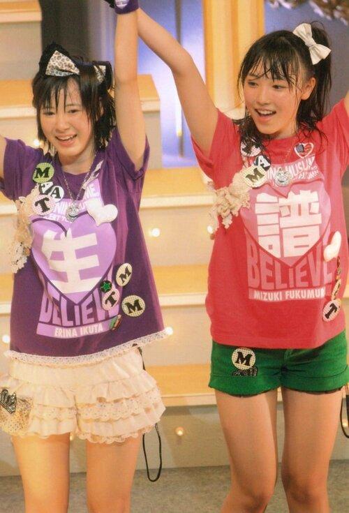 Mizuki Fukumura  譜久村聖 Erina Ikuta 生田衣梨奈 Tournée d'automne 2011 Morning Musume concert tour 2011 Aki Ai BELIEVE ~ Takahashi Ai sotsugyo kinen special ~