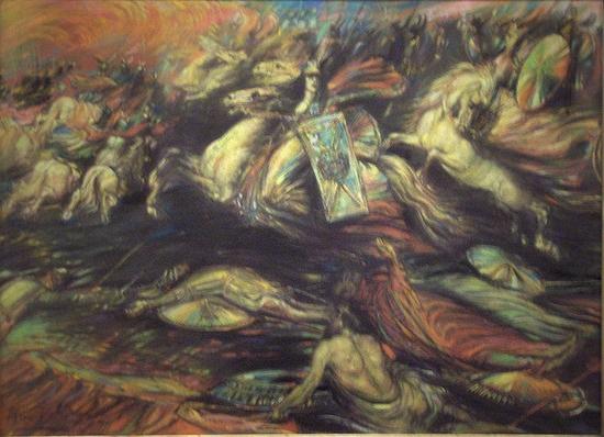 Henry De Groux, La chevauchée des Walkyries