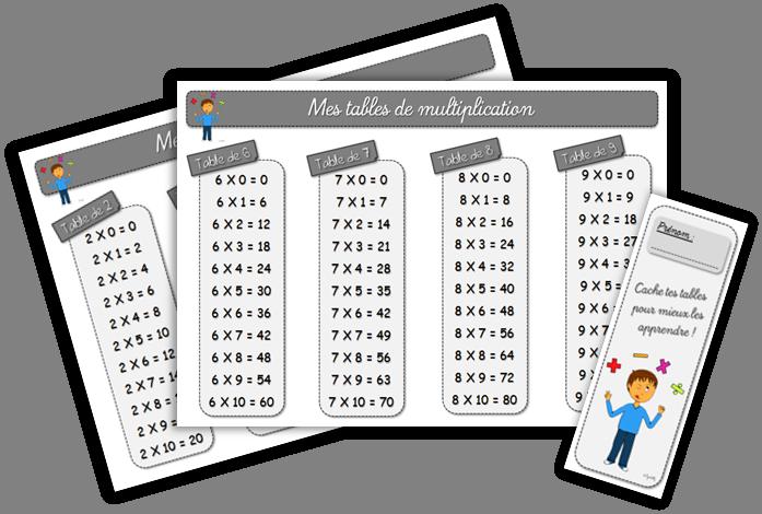 Maths ce1 apprendre ses tables de multiplication chez for Apprendre multiplication ce2