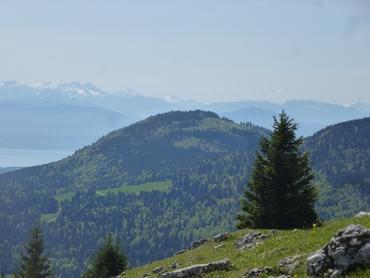 Vue du sommet - Panorama à 360° - Les Alpes - Lac Léman