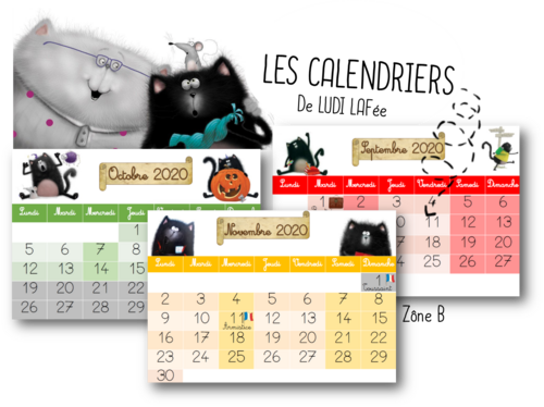 Calendrier  2020 / 2021 - Splat le chat