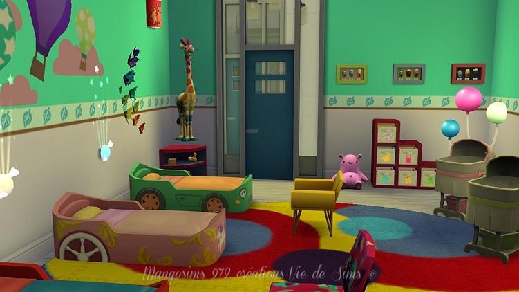 Ecole privée le colibri rouge sans cc #sims4