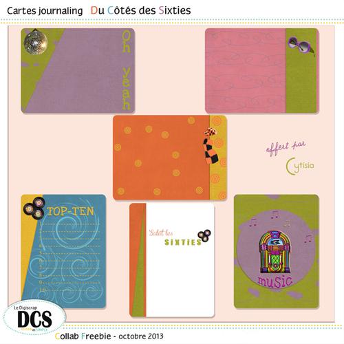 DCS et les Cartes journaling des Sixties