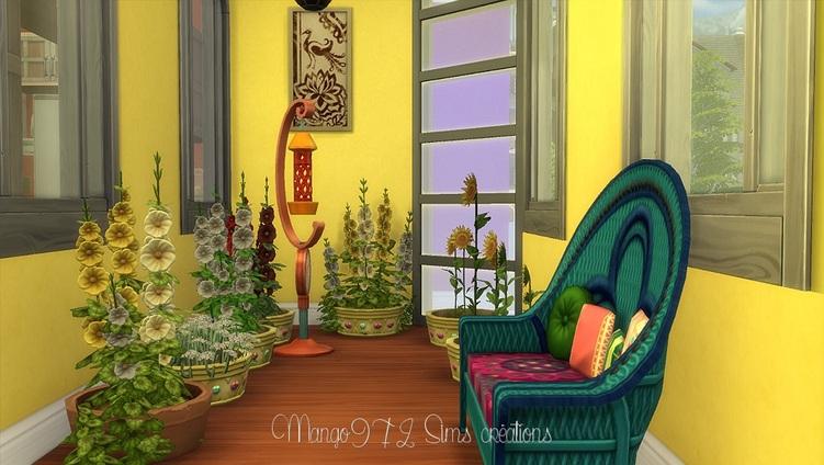 Sims 4, aménagement des Painted ladies