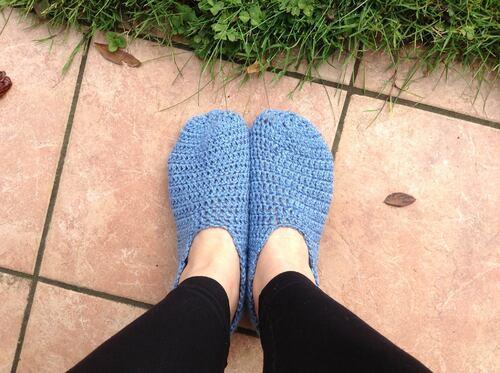 Mes chaussons au crochet...