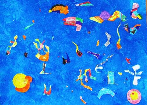 A la manière de Kandinsky - Le cartable des chevaliers