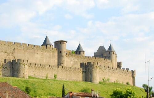 L'arrivée sur Carcassonne La cité