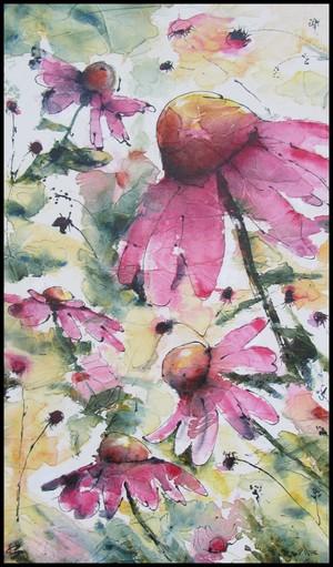 Youpi!!!!! Un tableau choisi au vernissage  Flore et sens