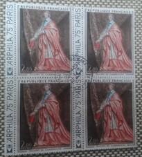 France -oblitérés - blocs de 4 timbres avec oblitération complète