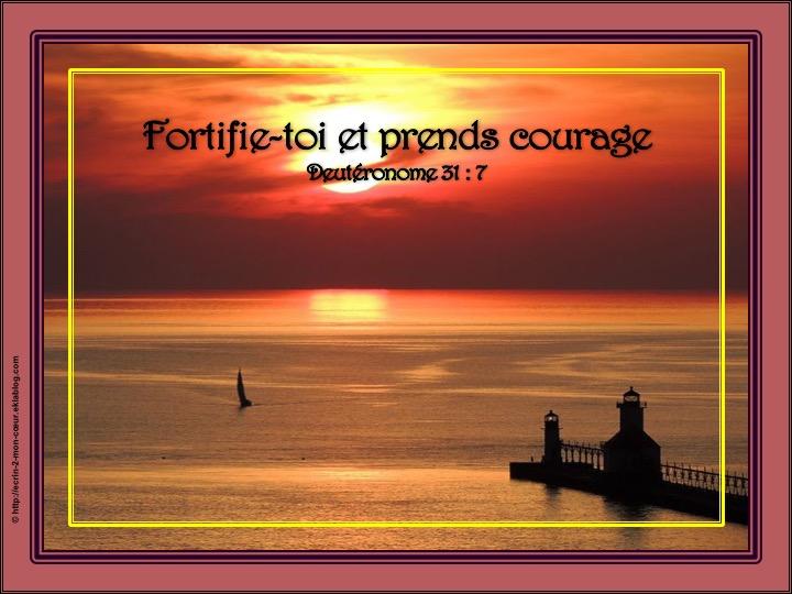 Fortifie-toi et prends courage - Deutéronome 31 : 7