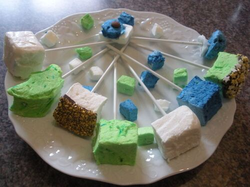 Marshmallows trois couleurs