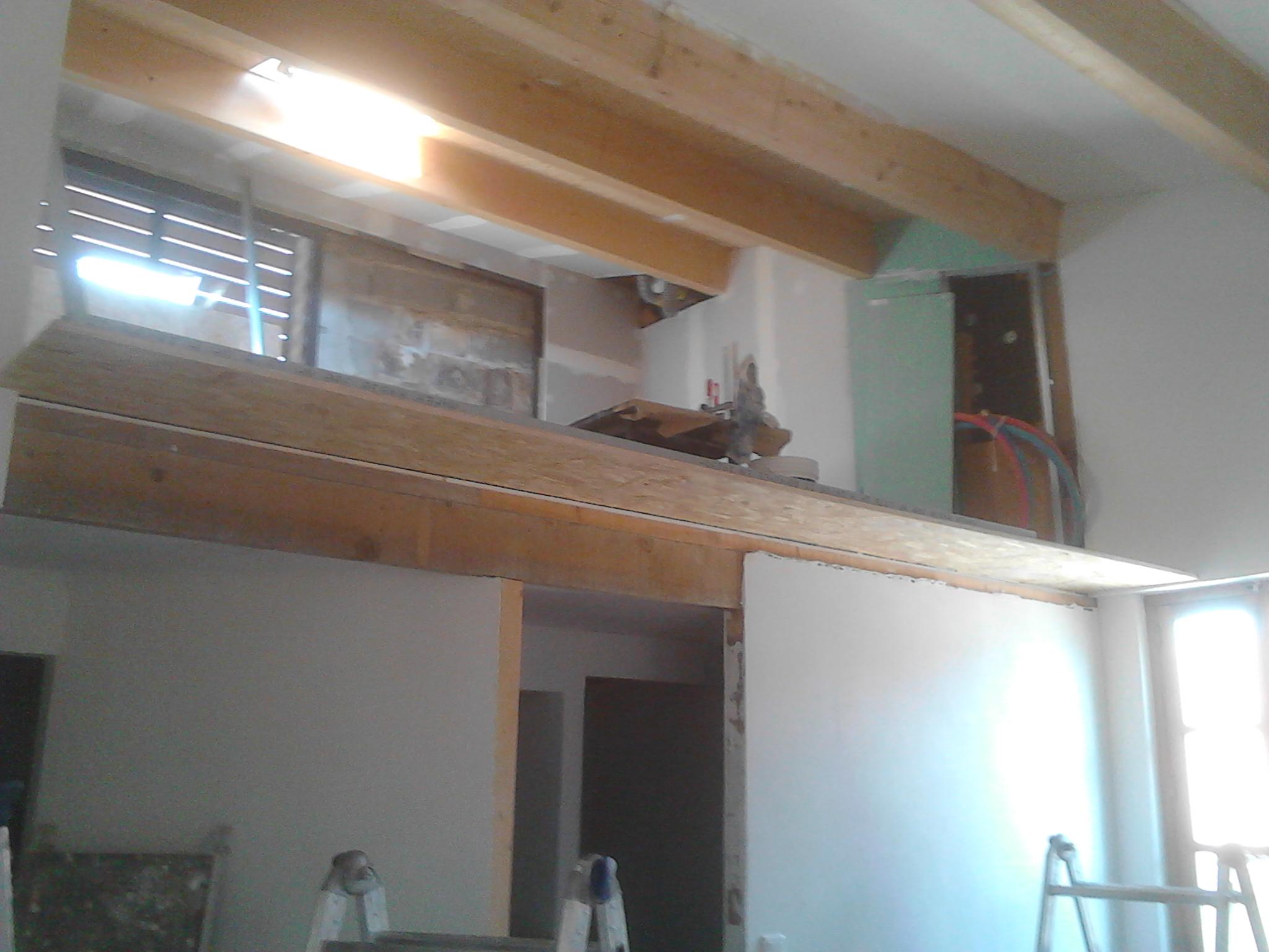 Séparation entre mezzanine et chambre casavignon