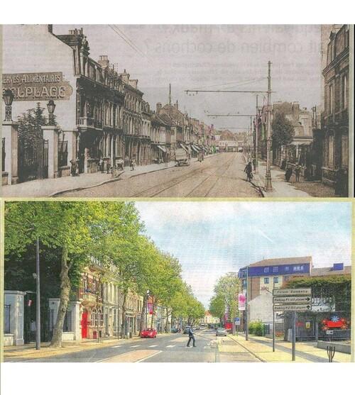 Le boulevard Gambette au début du 20ème siècle