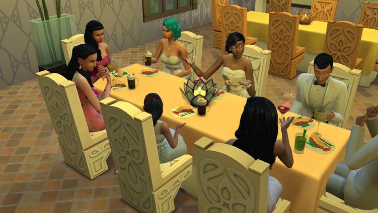 Sims 4 le mariage  de Natalia et Humphrey