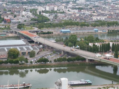 Le pont Mathilde en finition