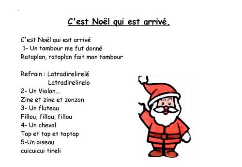 comptines et chants de Noël