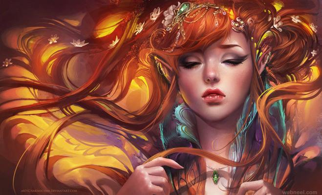 fantasy woman digital painting