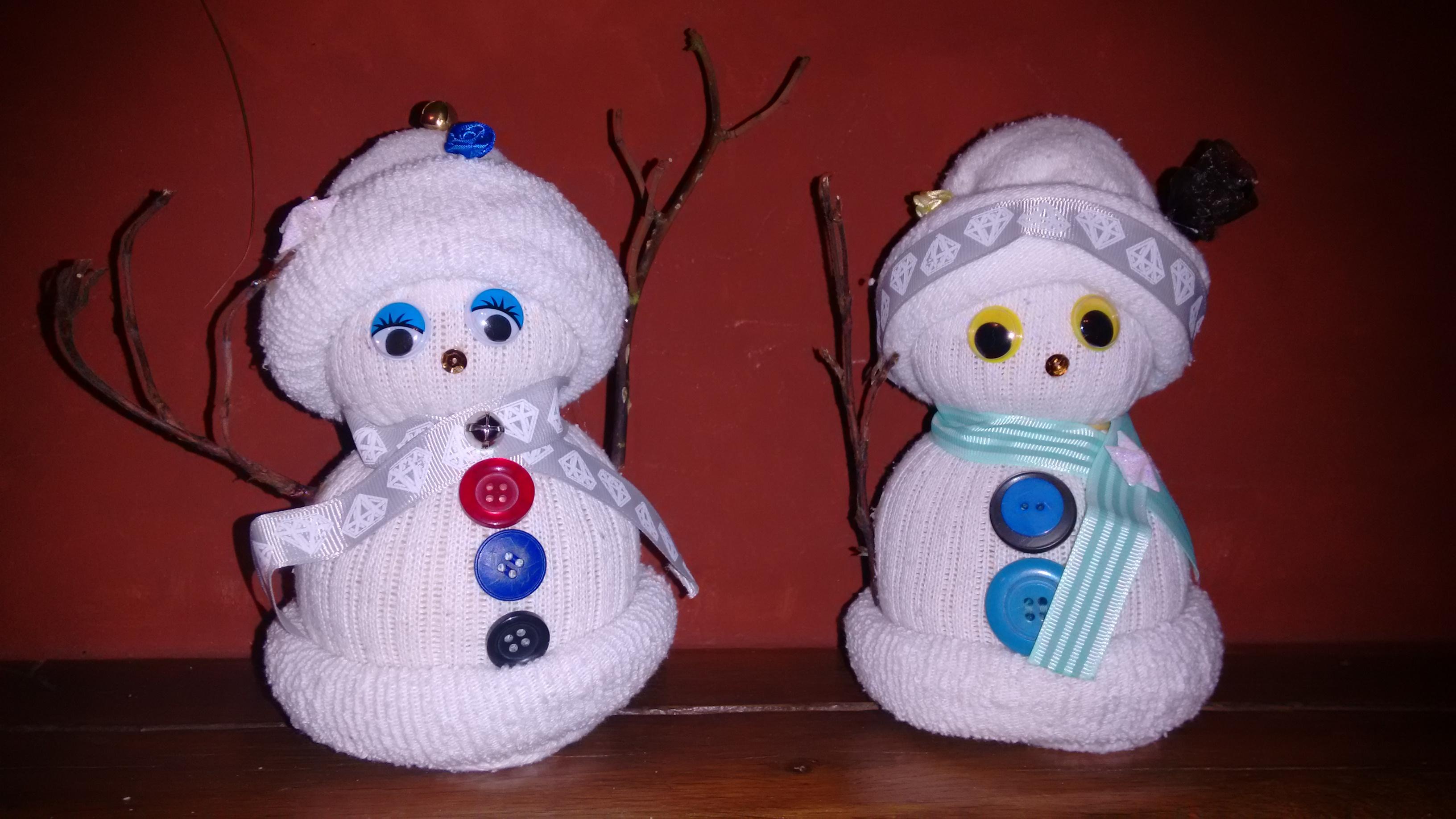 bonhomme de neige chaussette! - les petits doudous