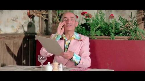 FUNÈS, Louis de - L'Américain au restaurant (Tiré de l'Aile ou  la cuisse) (Humour)
