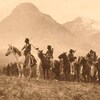Piegan Pass Finders. Early 1900s. Photo by Roland W. Reed. Source - Denver Museum of Nature & Scienc