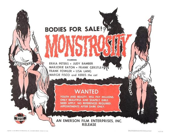 MONSTROSITY BOX OFFICE USA 1964