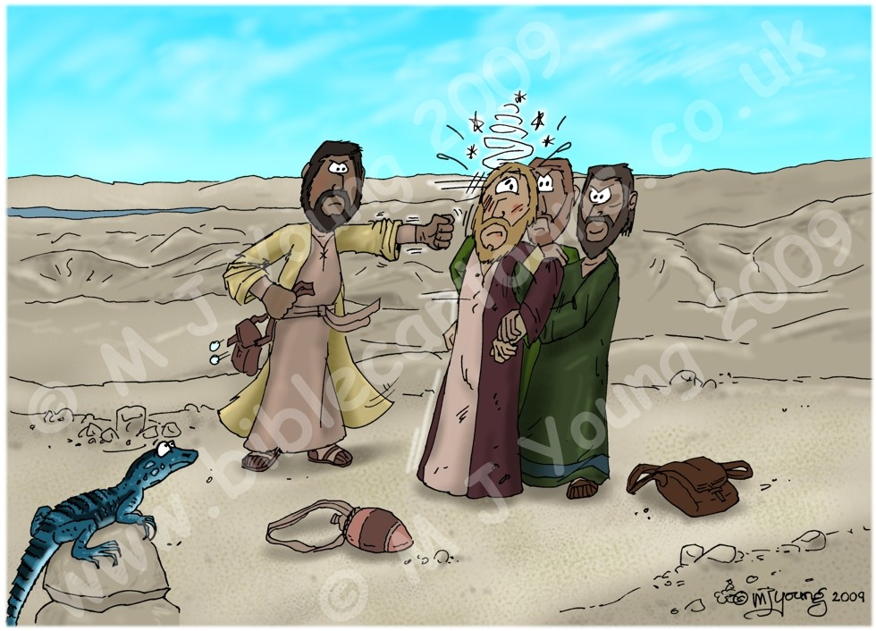 Luke 10 - Parable of the good Samaritan SET01 - Scene 01 - beaten up