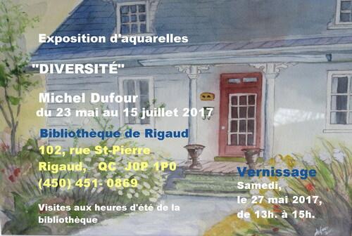 Michel Dufour exposera ses aquarelles