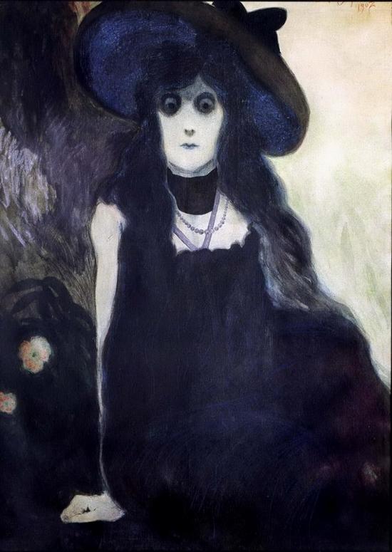 Léon Spilliaert, La buveuse d'absinthe