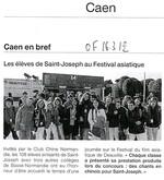 Tous les élèves sinisants sont allés à Deauville au Festival du film asiatique