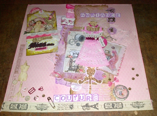 Scrap fotos D'kos- Dictée de page Couture
