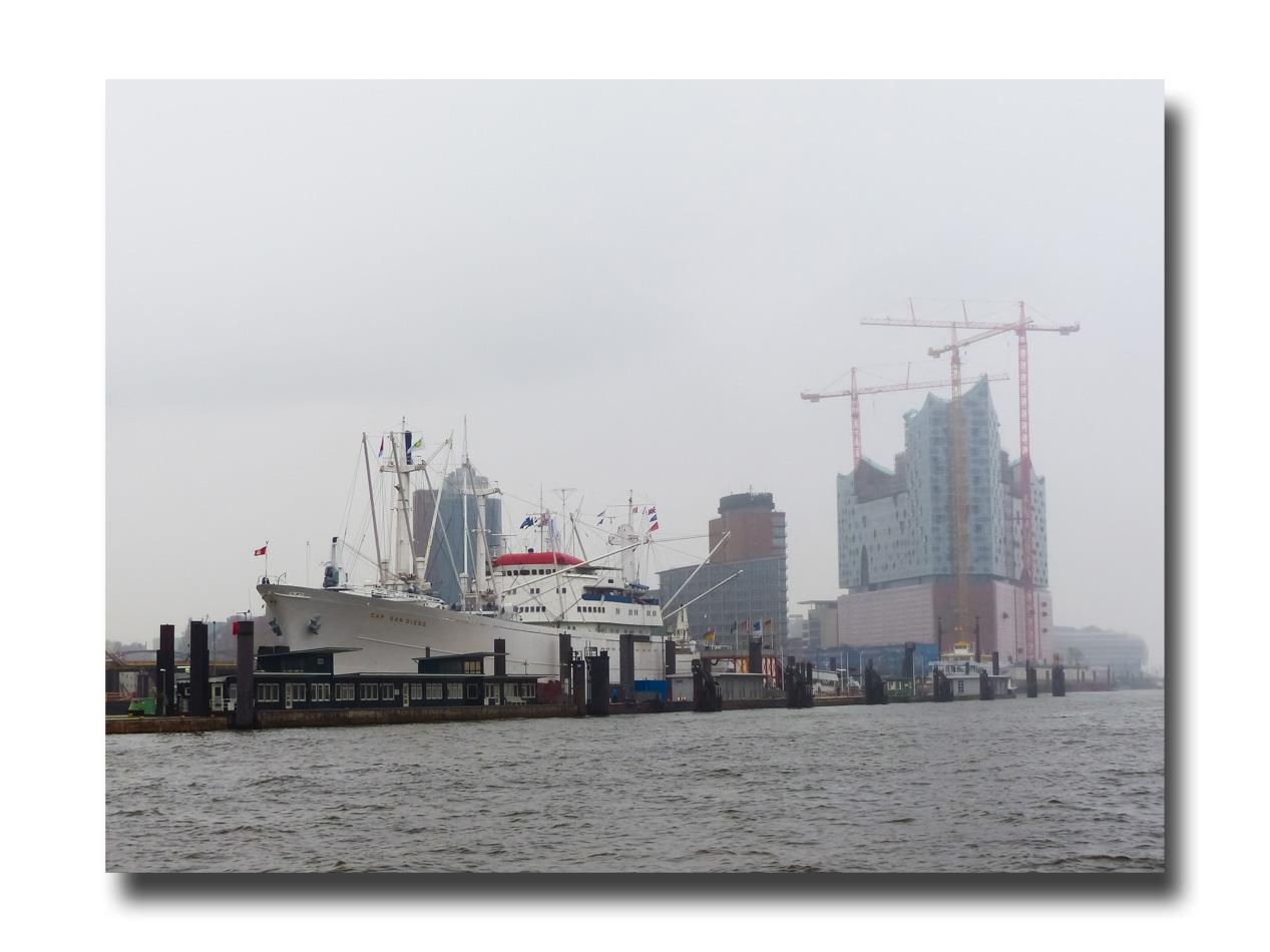 Dan le port de Hambourg.