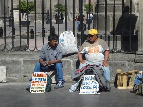 chômage à Mexico 2009auteur El mundo de Laura