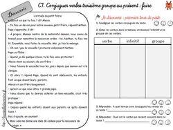 Nouveau fichier conjugaison : CE1/CE2 commun !