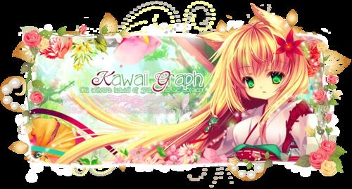 Bannière Kawaii Graph fleurs