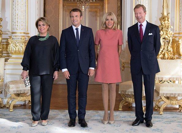 Le couple présidentiel français au Luxembourg