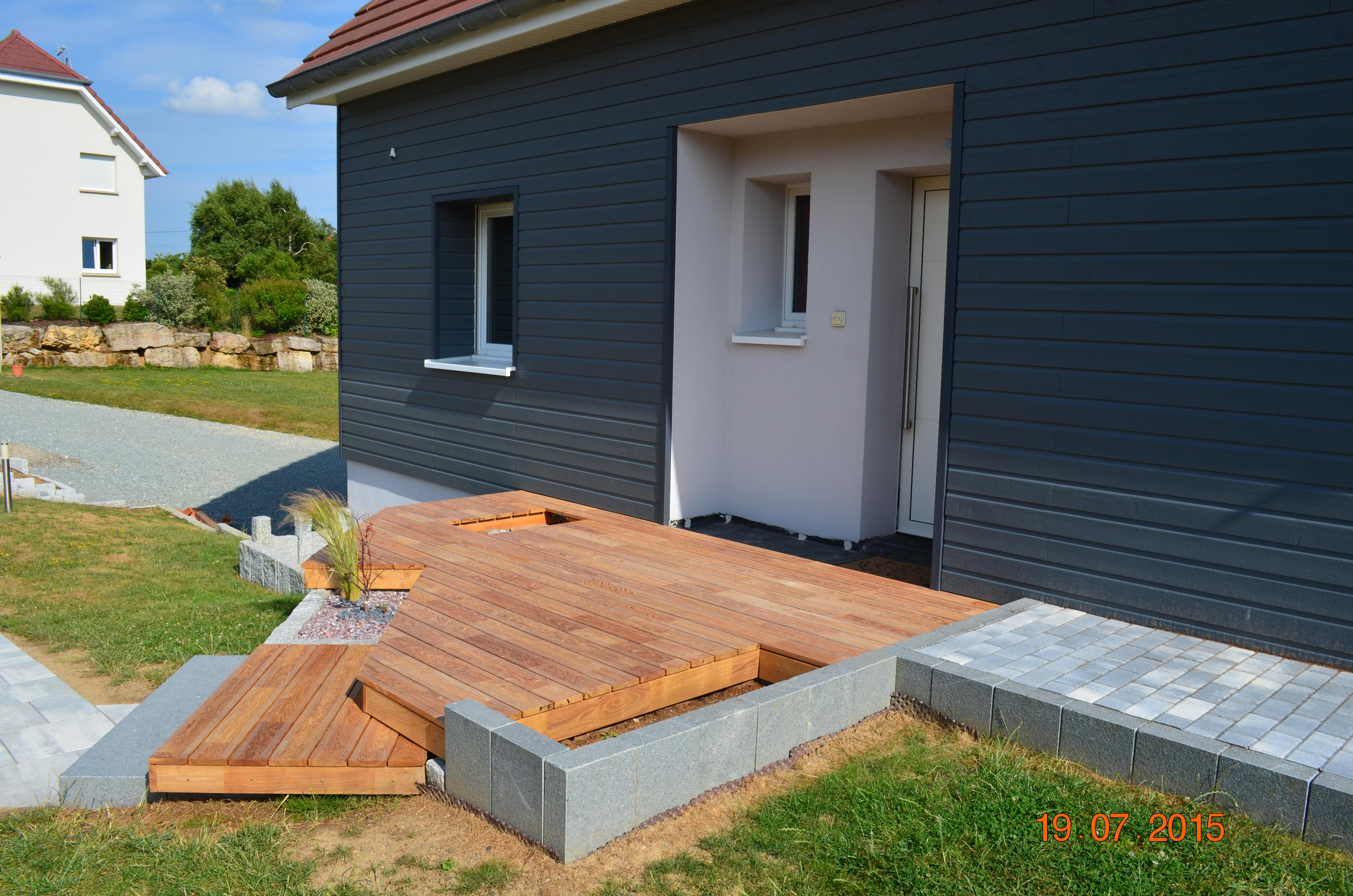 Porche D Entrée Bois terrasse bois - ite liege et fibre de bois