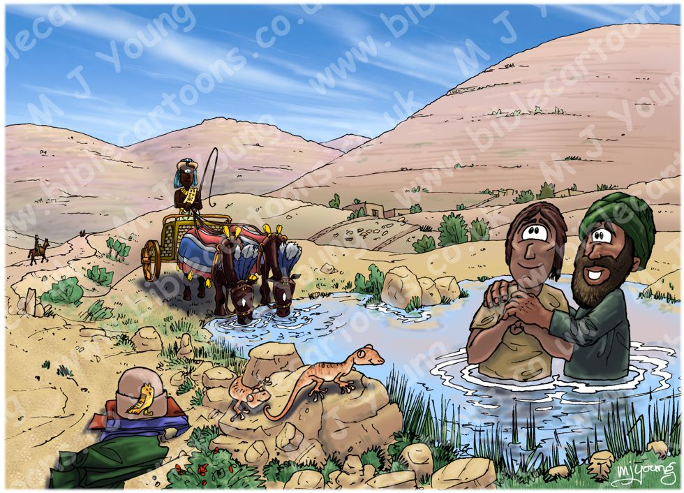 Acts 08 - Philip and the Ethiopian eunuch - Scene 04 - Baptism
