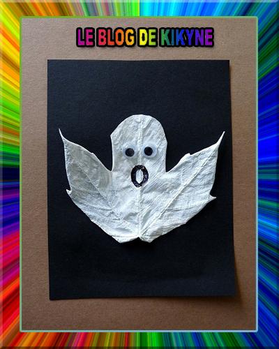 Fantôme en feuille d'Automne