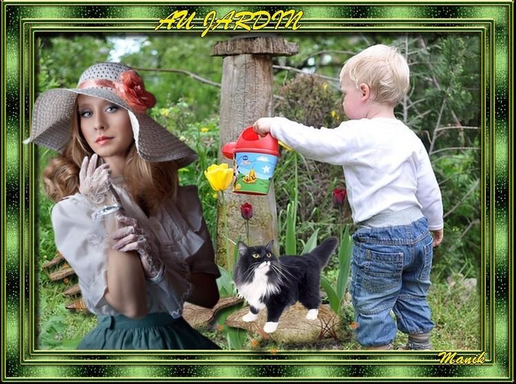 """Défi pour mon amie Beauty """" Au jardin """""""