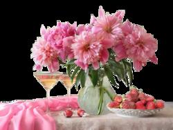 Fleurs fond transparent