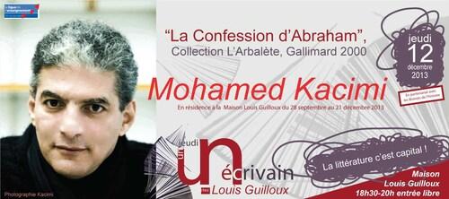 Mohamed Kacimi à la maison Louis Guilloux