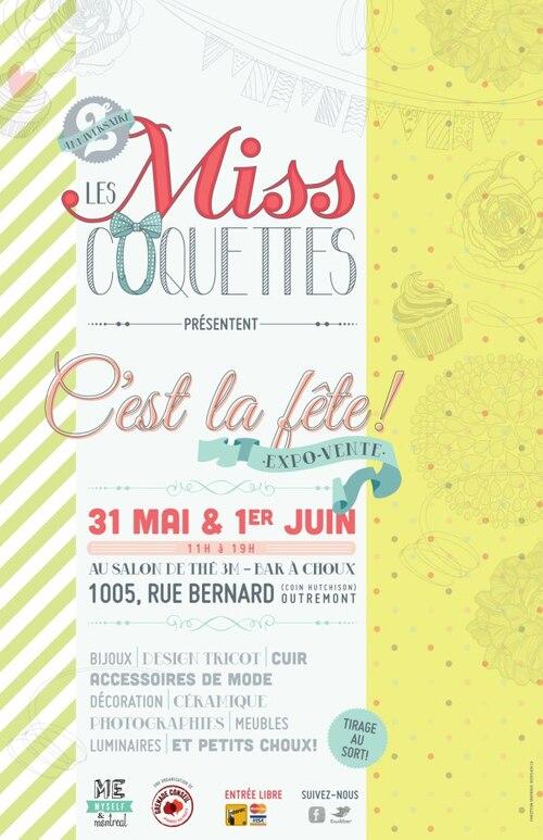 EXPO VENTE spéciale 2eme anniversaire Les Miss Coquettes les 31 mai et 1er juin