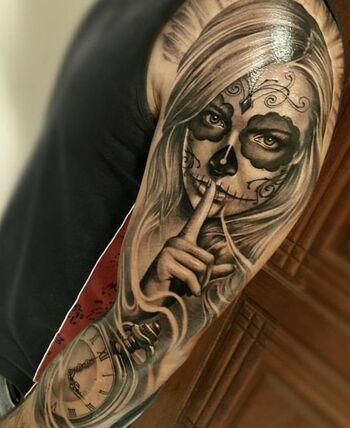 catrina tatouage