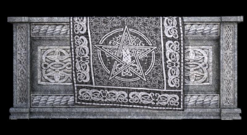 Tube autel du sacrifice (Halloween-render)
