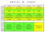 Emploi du temps 2012-2013
