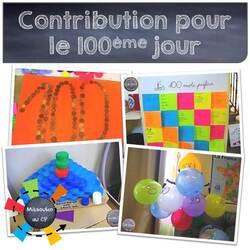 Les idées de Catimini pour le centième jour d'école