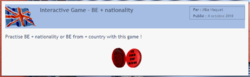 Interactive game: BE+ nationality