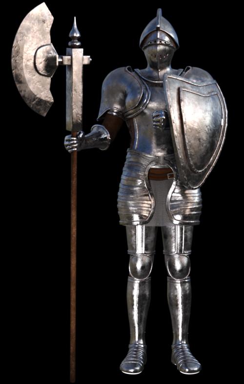 Tube de vaillant chevalier (render-image)